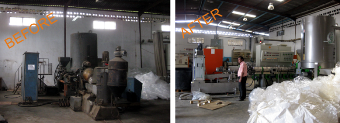 revisione macchine ed impianti per la lavorazione della plastica
